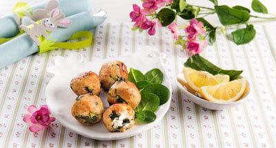 Chiftele cu ricotta, baby spanac și lămâie - Galbani