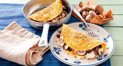 Omletă cu ciuperci şi mozzarella - Galbani