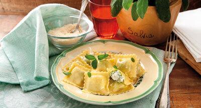 Ravioli cu ricotta și spanac - Galbani