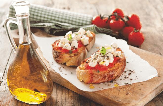Bruschete cu mozzarella - Galbani